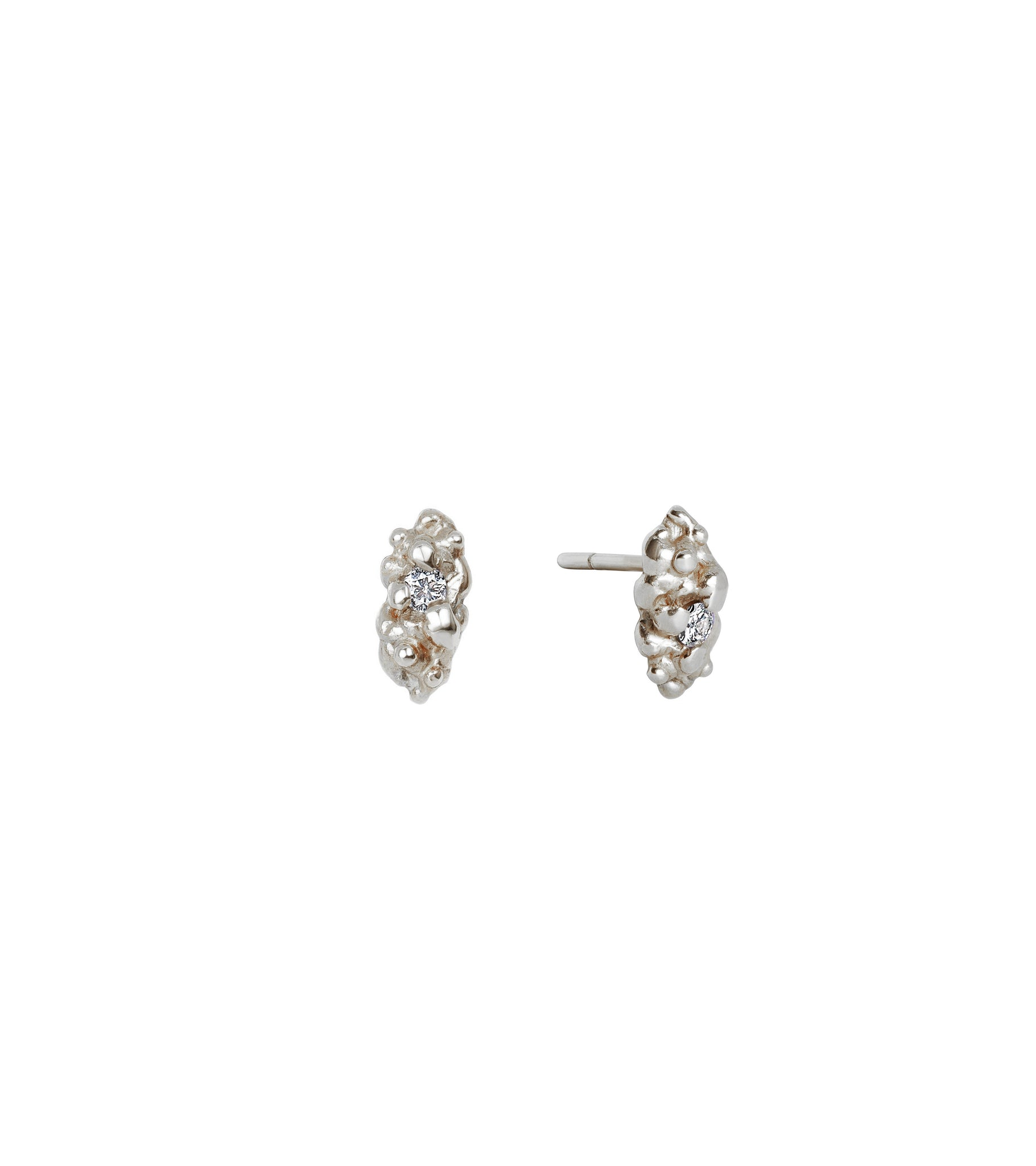 9ct White Gold--Pair,