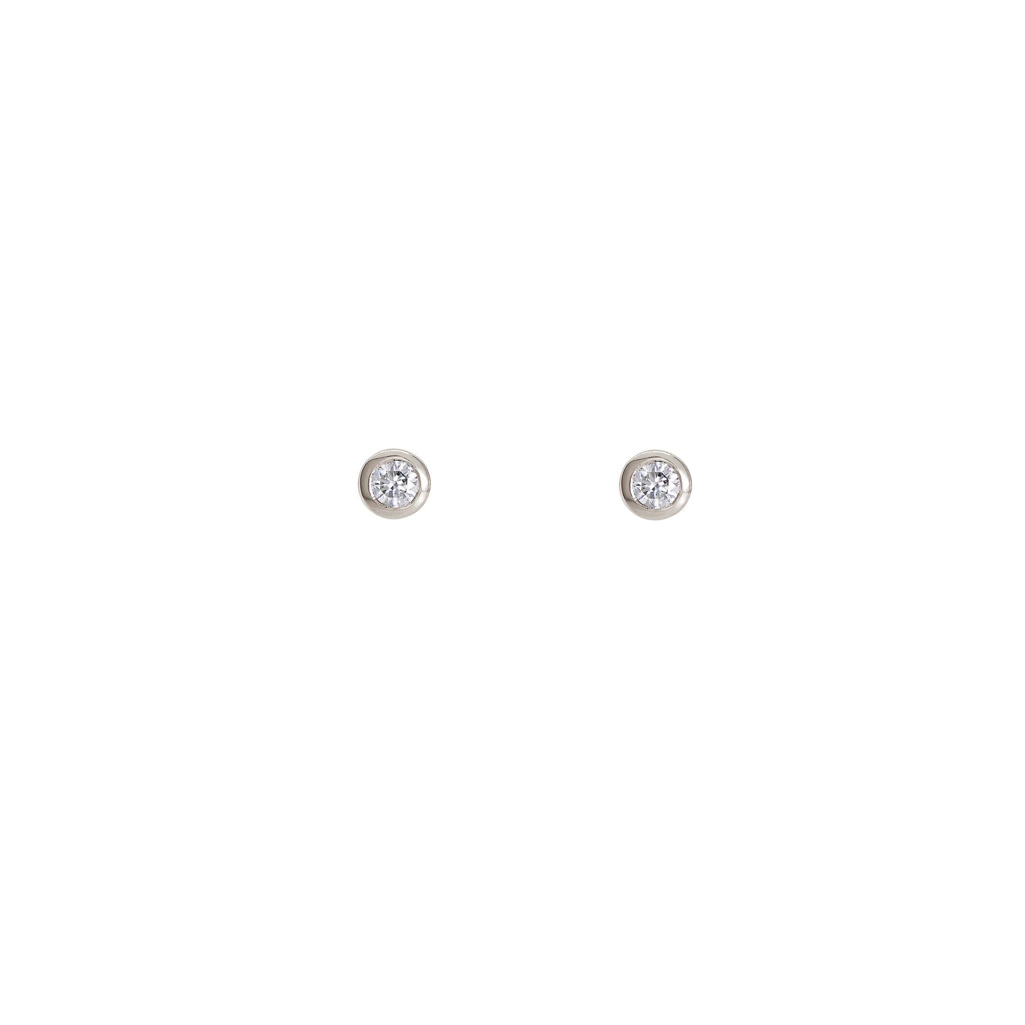9ct White Gold--0.12ct per stud--Pair