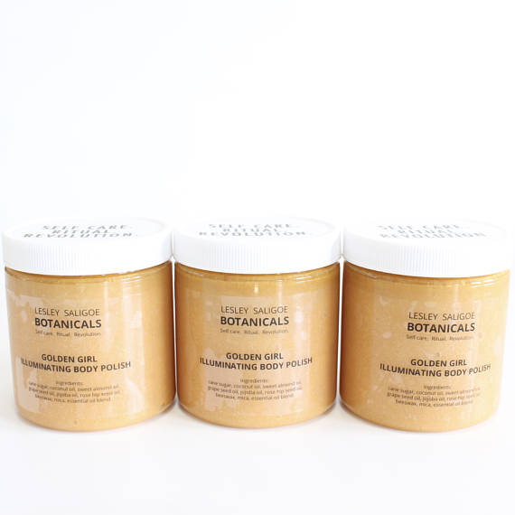 Lesley Saligoe Botanicals - Golden Girl Illuminating Body Polish - TheBeautiful.Store