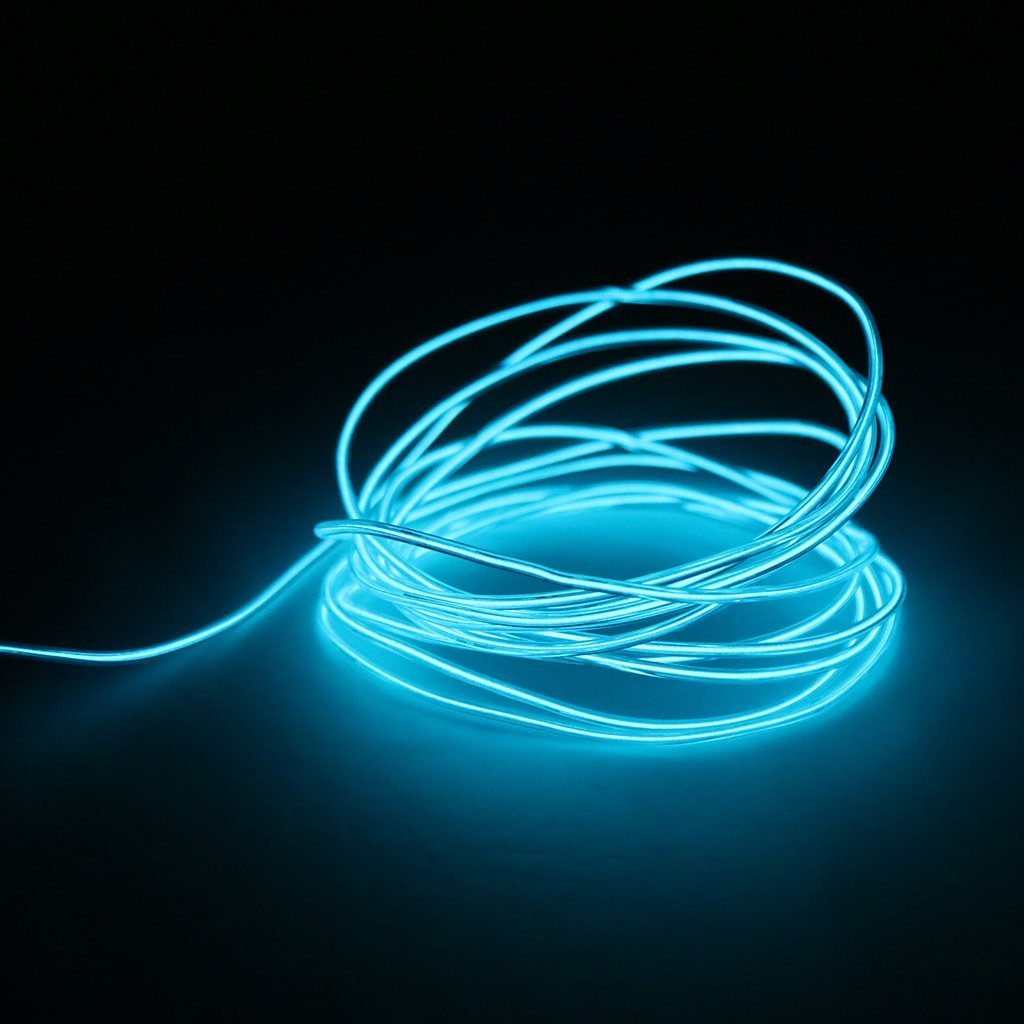 1M Flexible Neon EL Wire - Blue, 1M