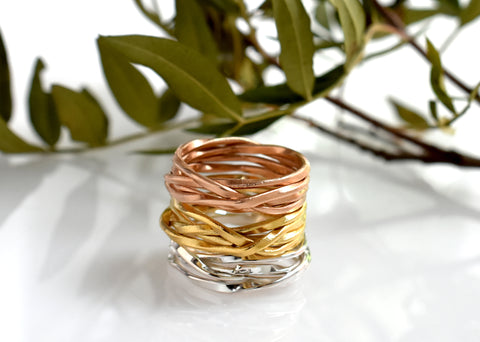 Lattice thin rings by Palenque Jewellery