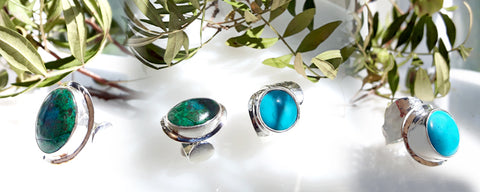 Picasso Cezanne stone rings by Palenque Jewellery
