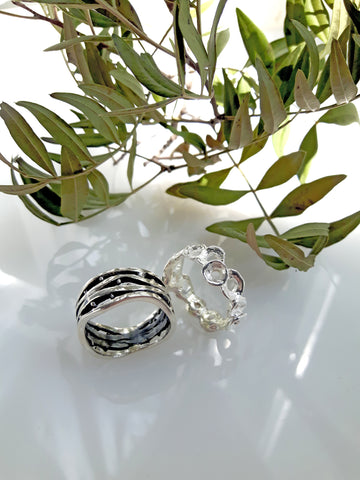Brianna & Silvana sterling silver rings by Palenque Jewellery
