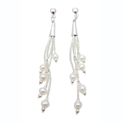 Evelyn White Pearl Earrings
