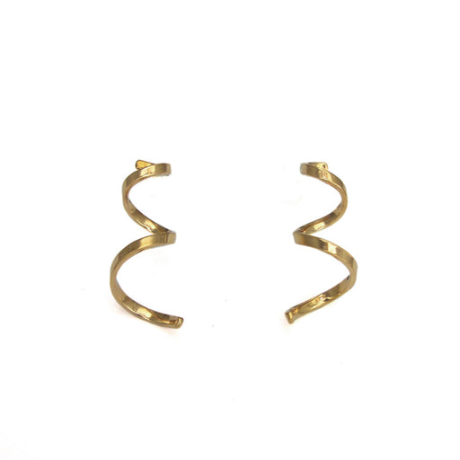 Duo Aria Tumbaga/Silver Stud Earrings