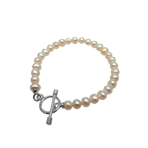 Mary Large White Pearl Bracelet