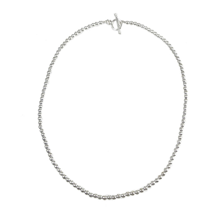 Bola Mini Polished Silver Necklace