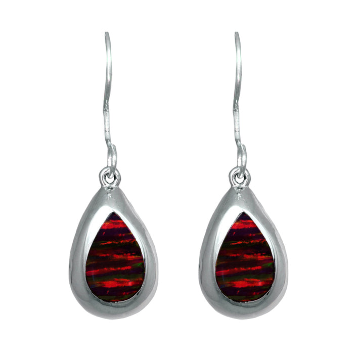 Flinder Red Teardrop Drop Earrings
