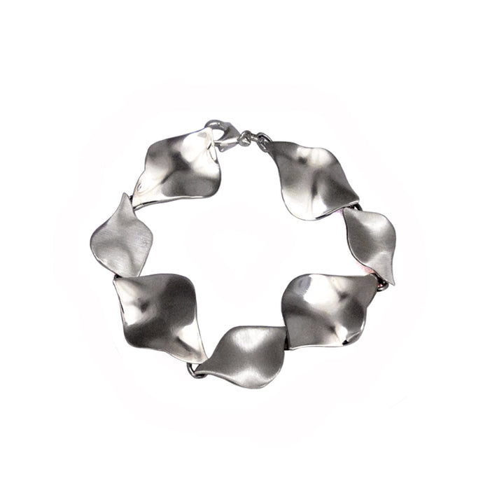 Flame Matt/Polished Silver bracelet