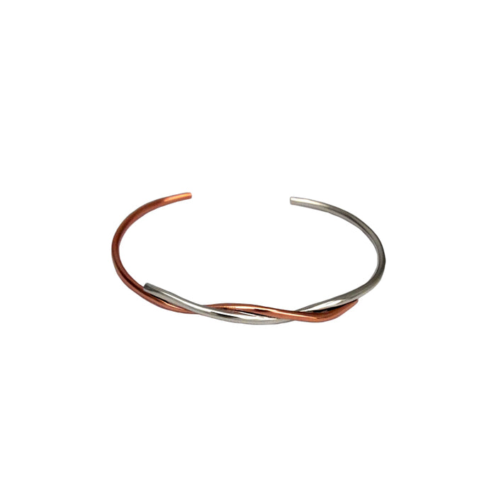 Duo Lyra Silver/Copper Cuff