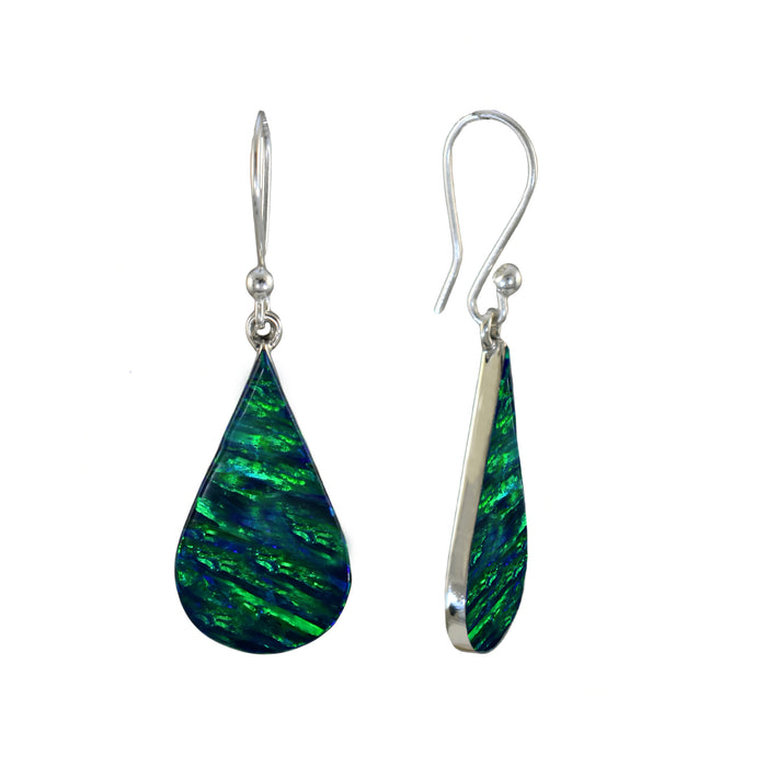 Flinder Emerald Raindrop Drop Earrings