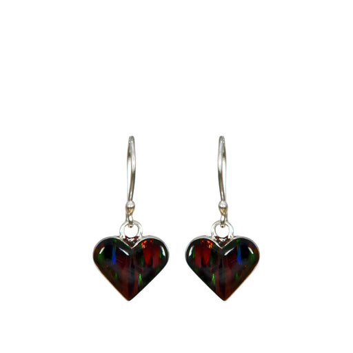 Flinder Red Heart Drop Earring