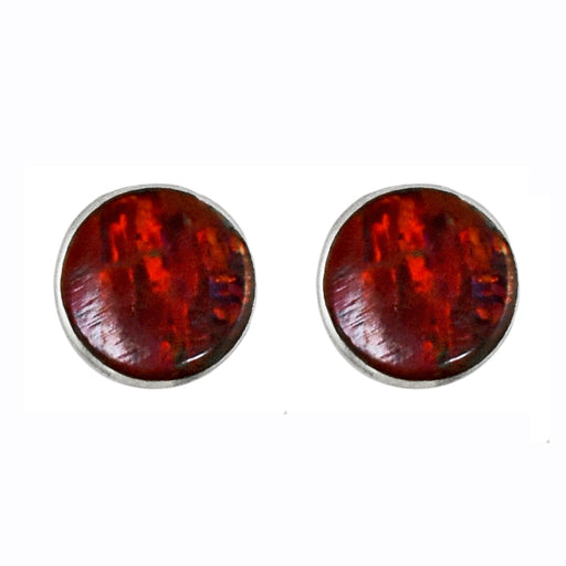 Flinder Red Dotty Stud Earrings
