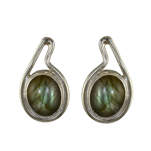 Jolie Labradorite Stud Earrings