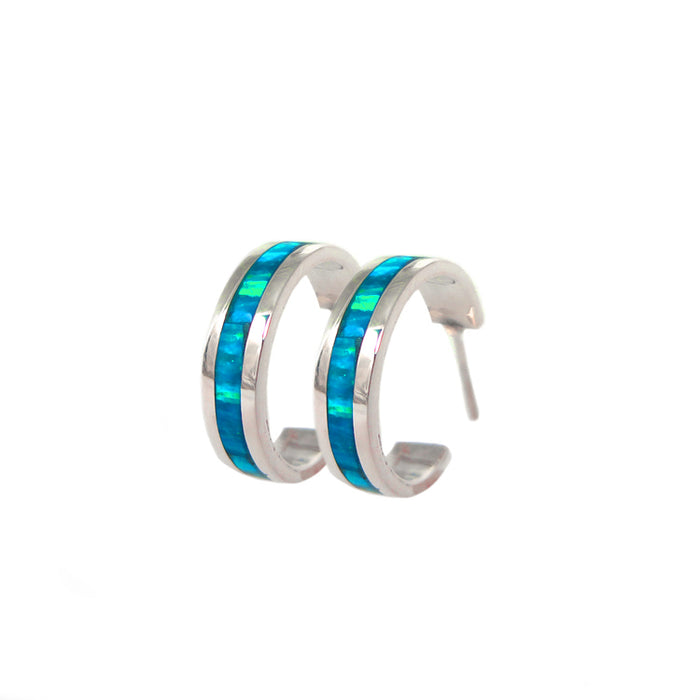 Flinder Turquoise Small Hoop Earrings