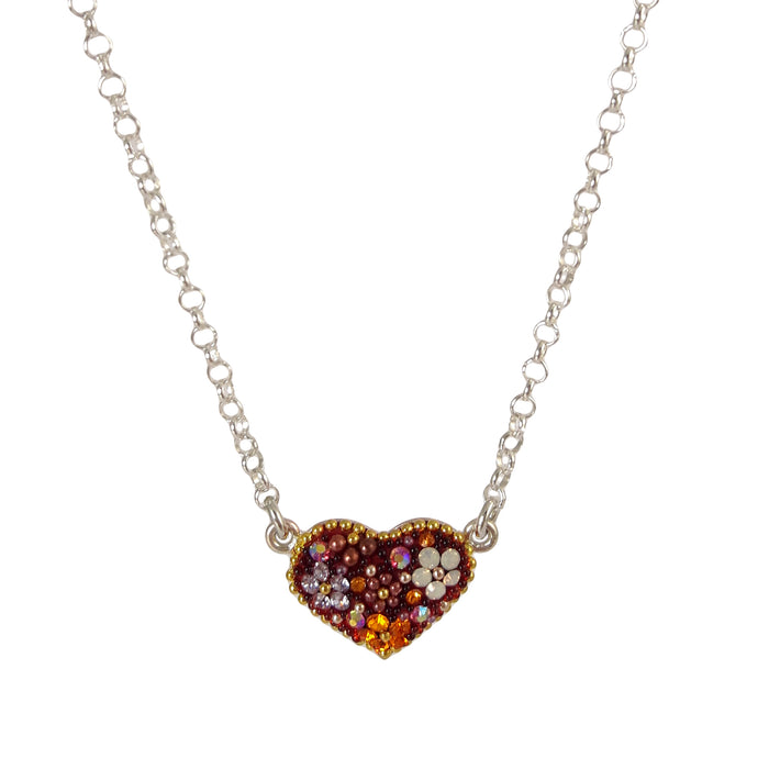 Allegra Heart Tutti Frutti Berry Necklace
