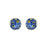 Flores Forget-Me-Not Round Stud Earrings