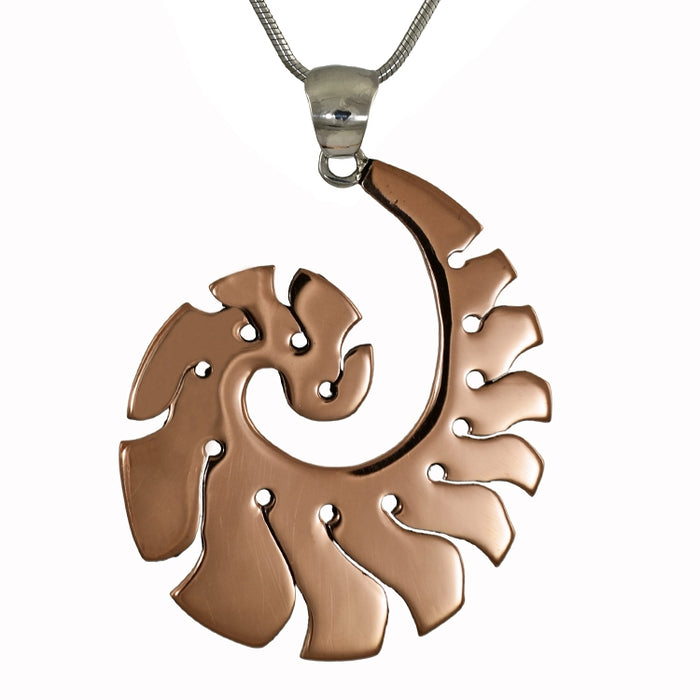 Gaea copper pendant