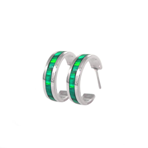Flinder Green Small Hoop Earrings
