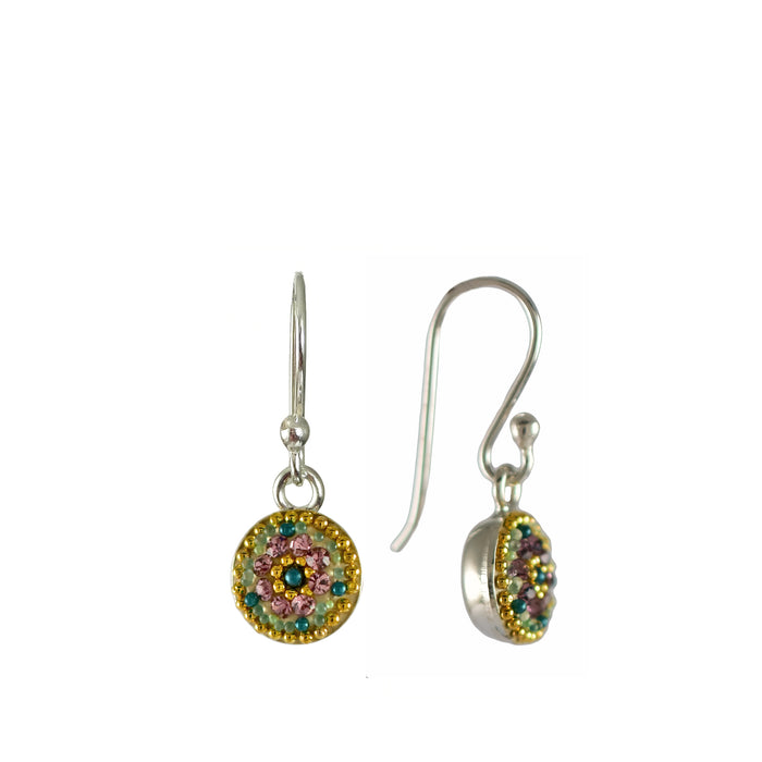 Allegra Antique Round Daisy Drop Earrings