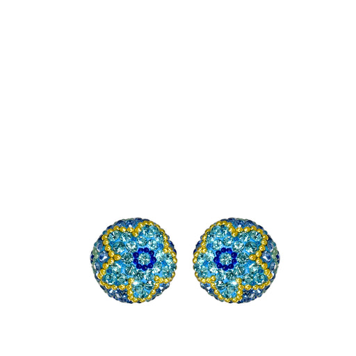 Allegra Aqua Sphere Stud Earrings