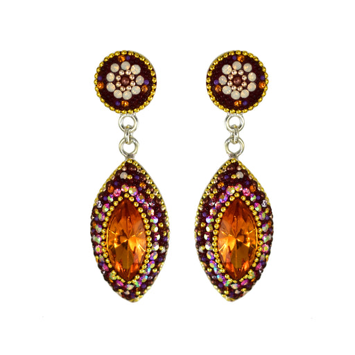 Allegra Double Berry Daisy Drop Earrings