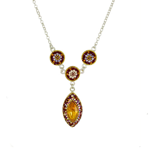 Allegra Berry Daisy Necklace