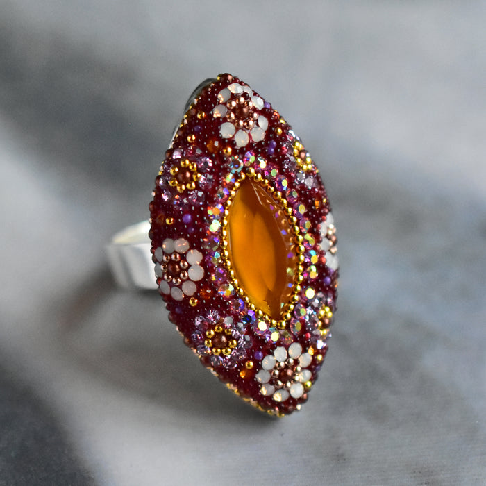 Allegra Berry Daisy Ring SALE