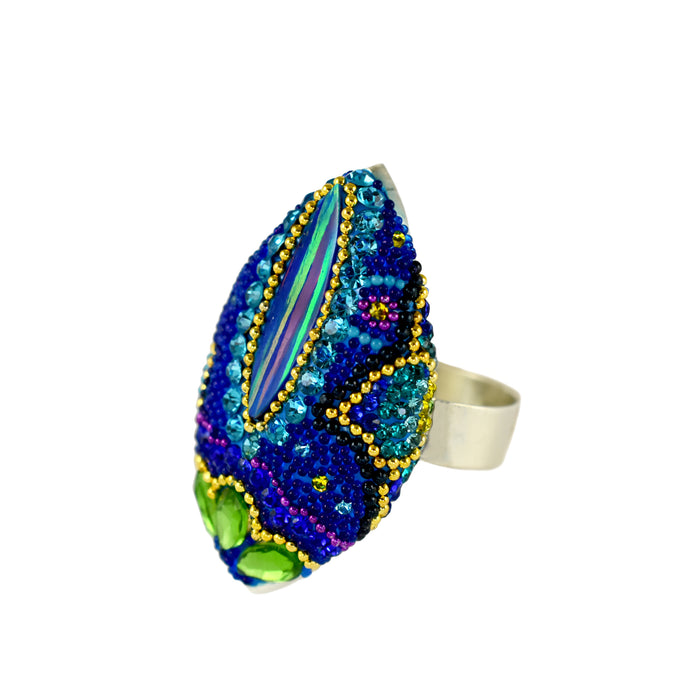 Allegra Blue Shimmer Ring