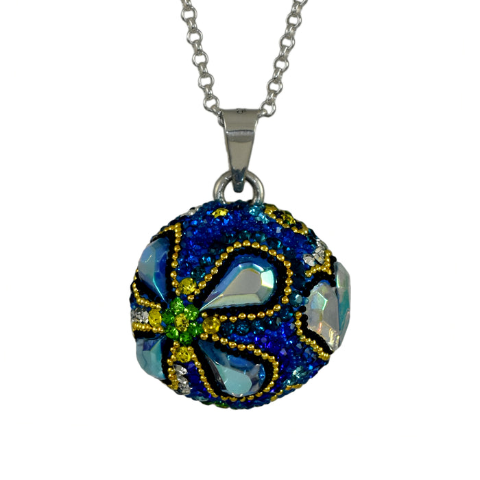 Allegra Blue Sphere Chimeball Pendant