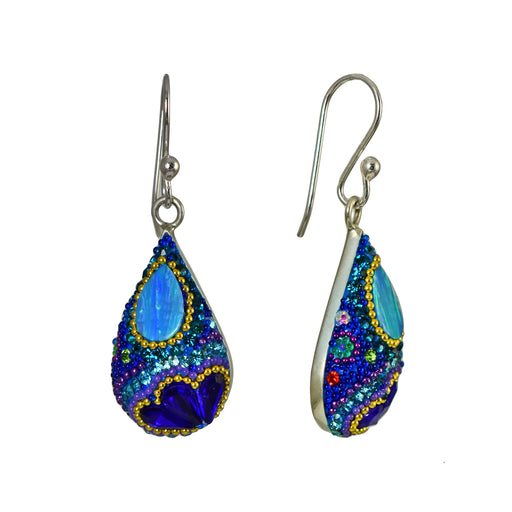 Allegra Dazzle Turquoise Drop Earrings