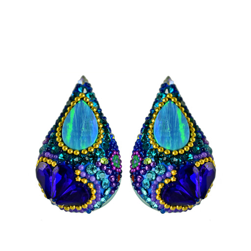 Allegra Dazzle Turquoise Stud Earrings
