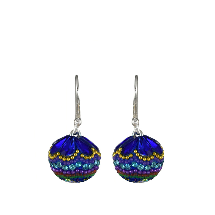 Allegra Dazzle Turquoise Sphere Drop Earrings