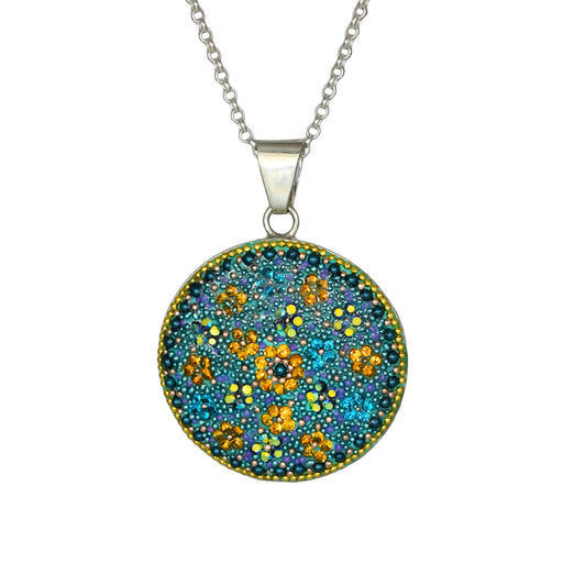 Allegra Disc Emerald Pendant