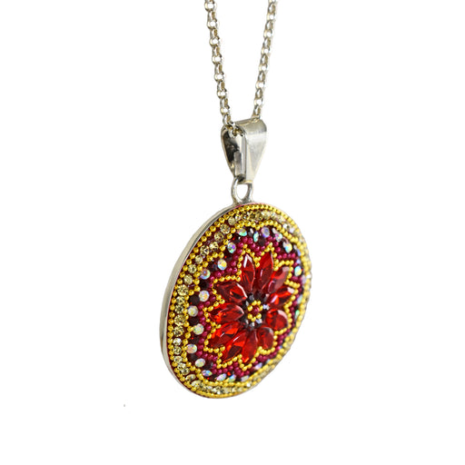 Allegra Red Disc Pendant