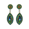 Allegra Double Emerald Daisy Drop Earrings