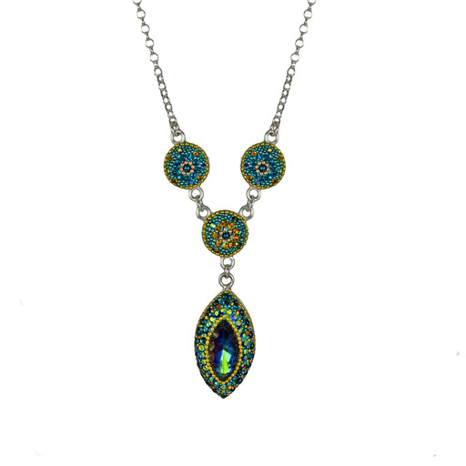 Allegra Emerald Daisy Necklace