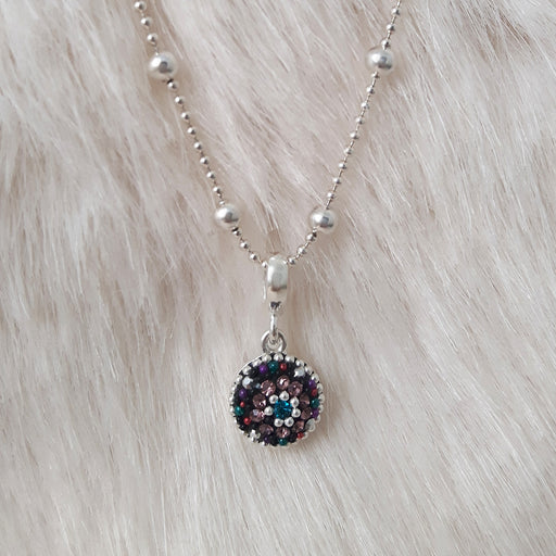 Allegra Emerald Bauble Daisy Mini Pendant