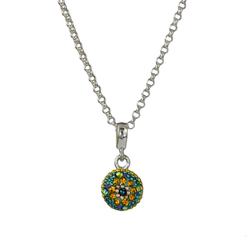 Allegra Emerald Daisy Mini Pendant