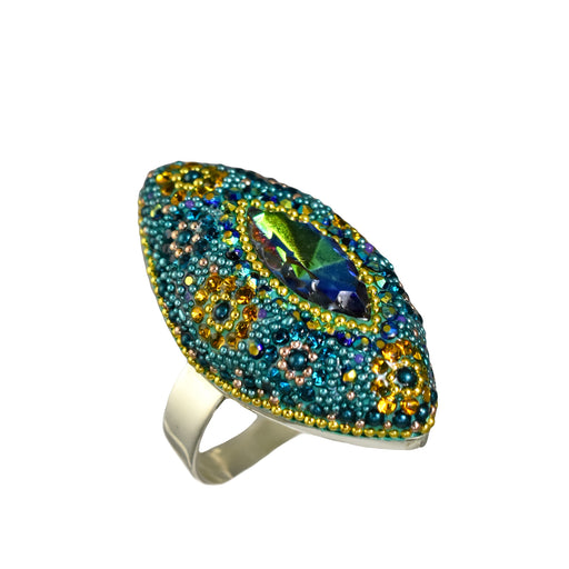 Allegra Emerald Daisy Ring