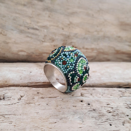 Allegra Dome Green Ring Size M
