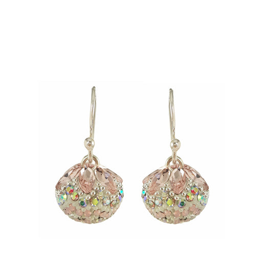 Allegra Pearl Pink Sphere Drop Earrings