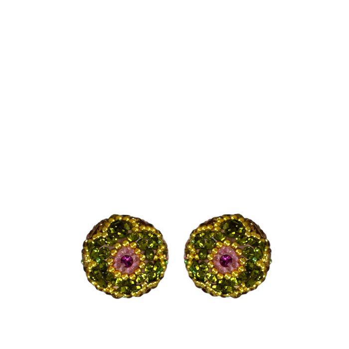 Allegra Pine Sphere Stud Earrings