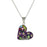 Allegra Purple Heart Pendant