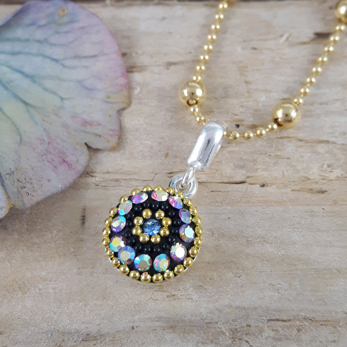 Allegra Purple Shimmer Daisy Mini Pendant