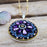 Allegra Disc Purple Shimmer Pendant