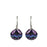 Allegra Purple Shimmer Sphere Drop Earrings