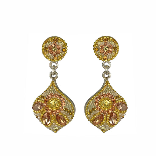 Allegra Double Gold Dream Drop Earrings