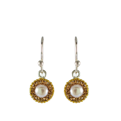 Allegra Pearl Old Gold Drop Earrings