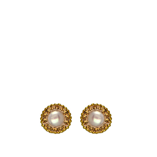 Allegra Pearl Rose Gold Stud Earrings